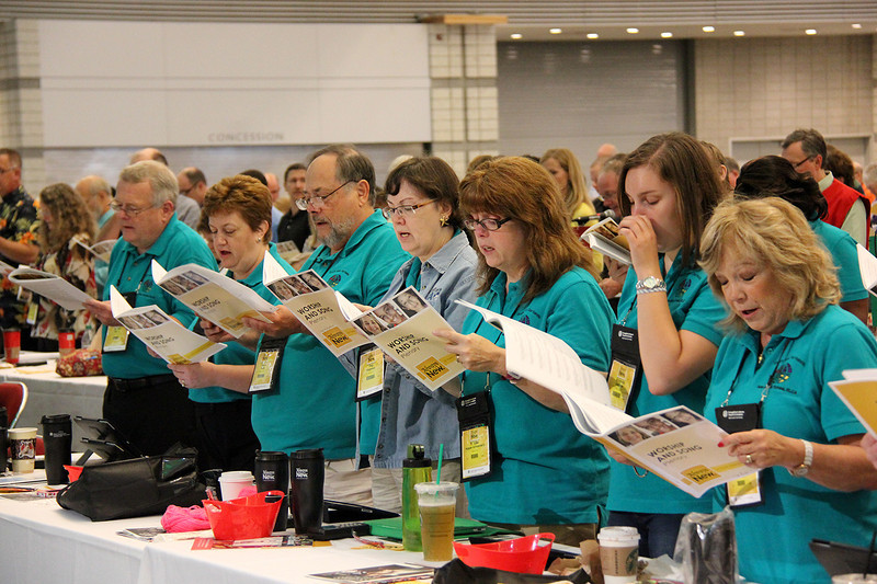 Assembly voting members participate in the Wednesday morning plenary.