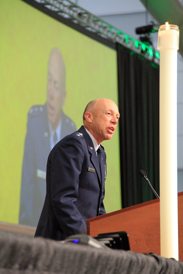 Chaplain, Major General Howard D. Stendahl, Chief of Chaplains for the United States Air Force speaks to the Assembly.