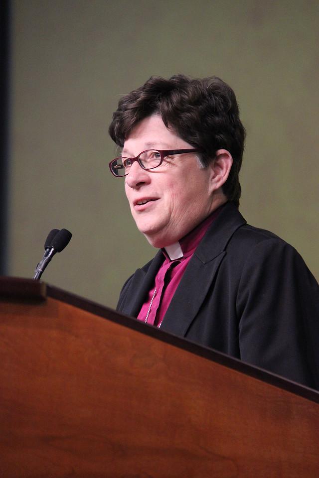 Bishop Elizabeth Eaton, nominee for presiding bishop, responds to questions.