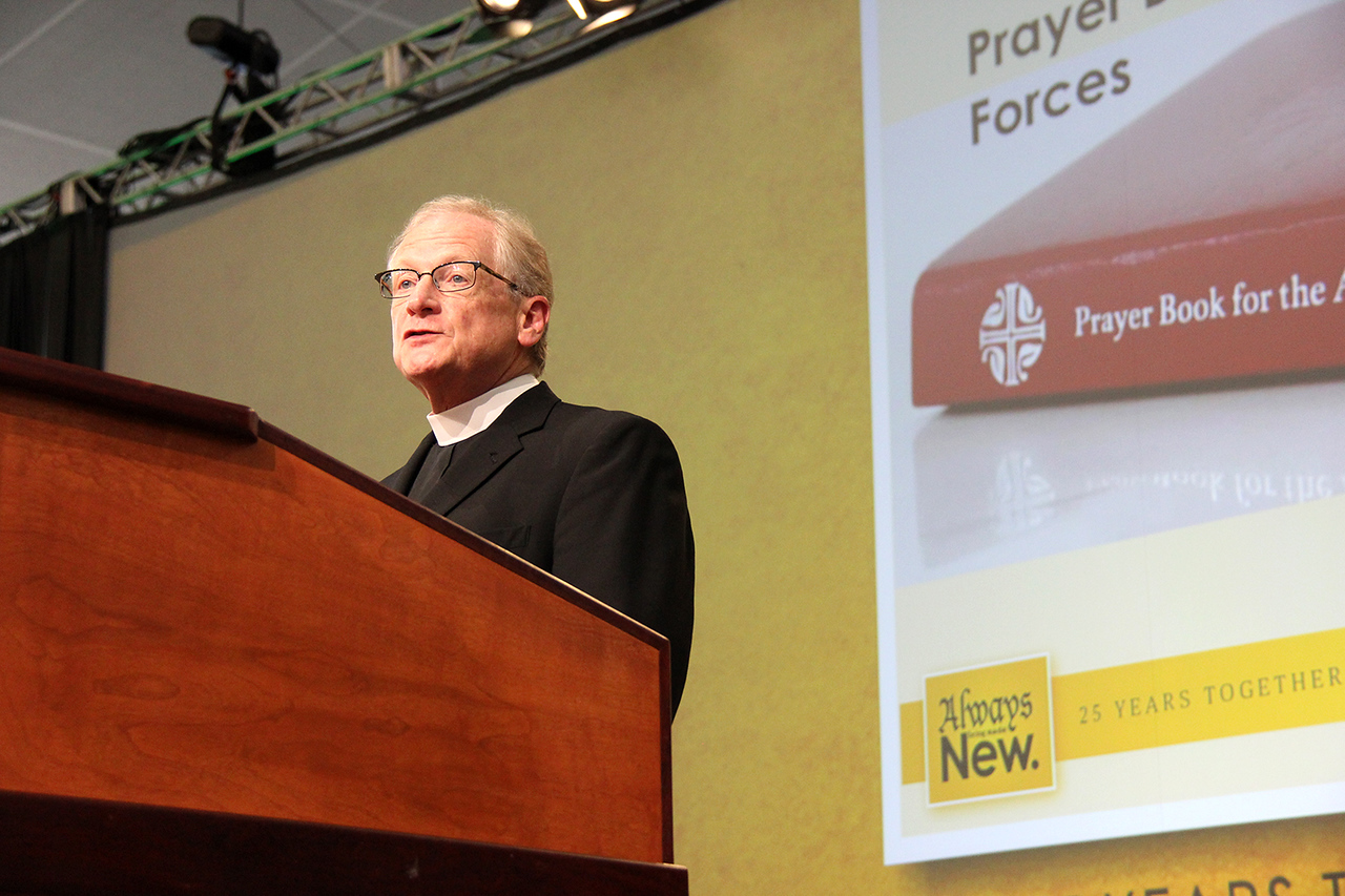 The Rev. Martin Seltz, publisher for worship at Augsburg Fortress, discusses The Prayer Book for the Armed Services.