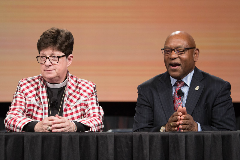 081216 - New Orleans, LA - Press conference to introduce the new ELCA Vice President, William Horne, pictured along with Bp. Eaton.