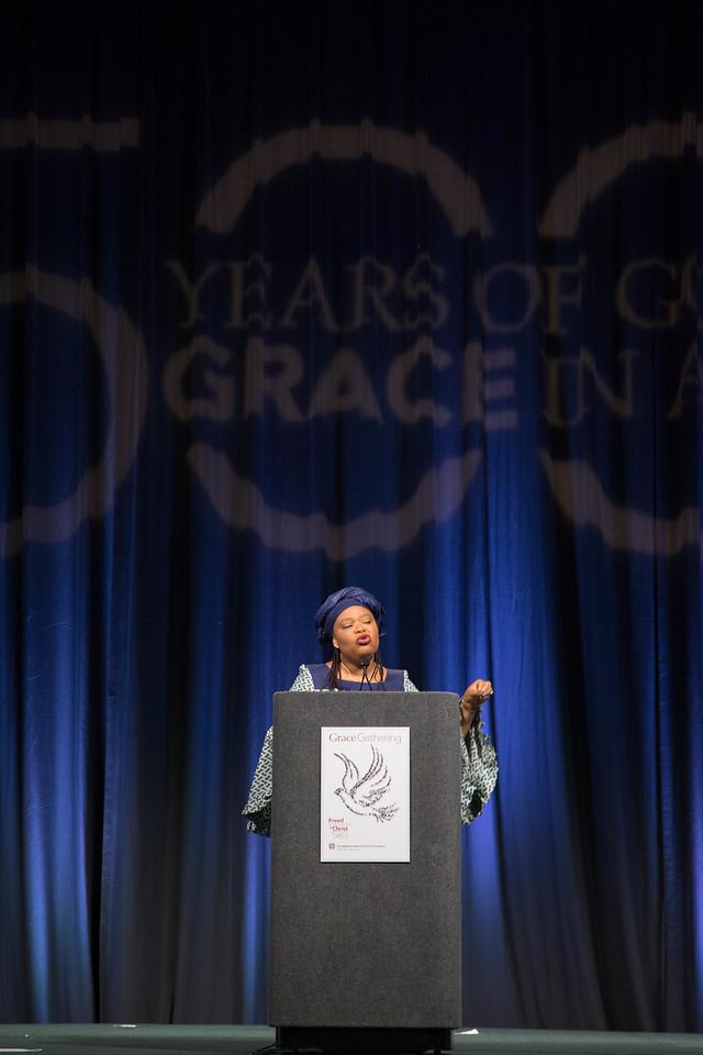 Grace Gathering. Keynote Speaker Leymah Gbowee.