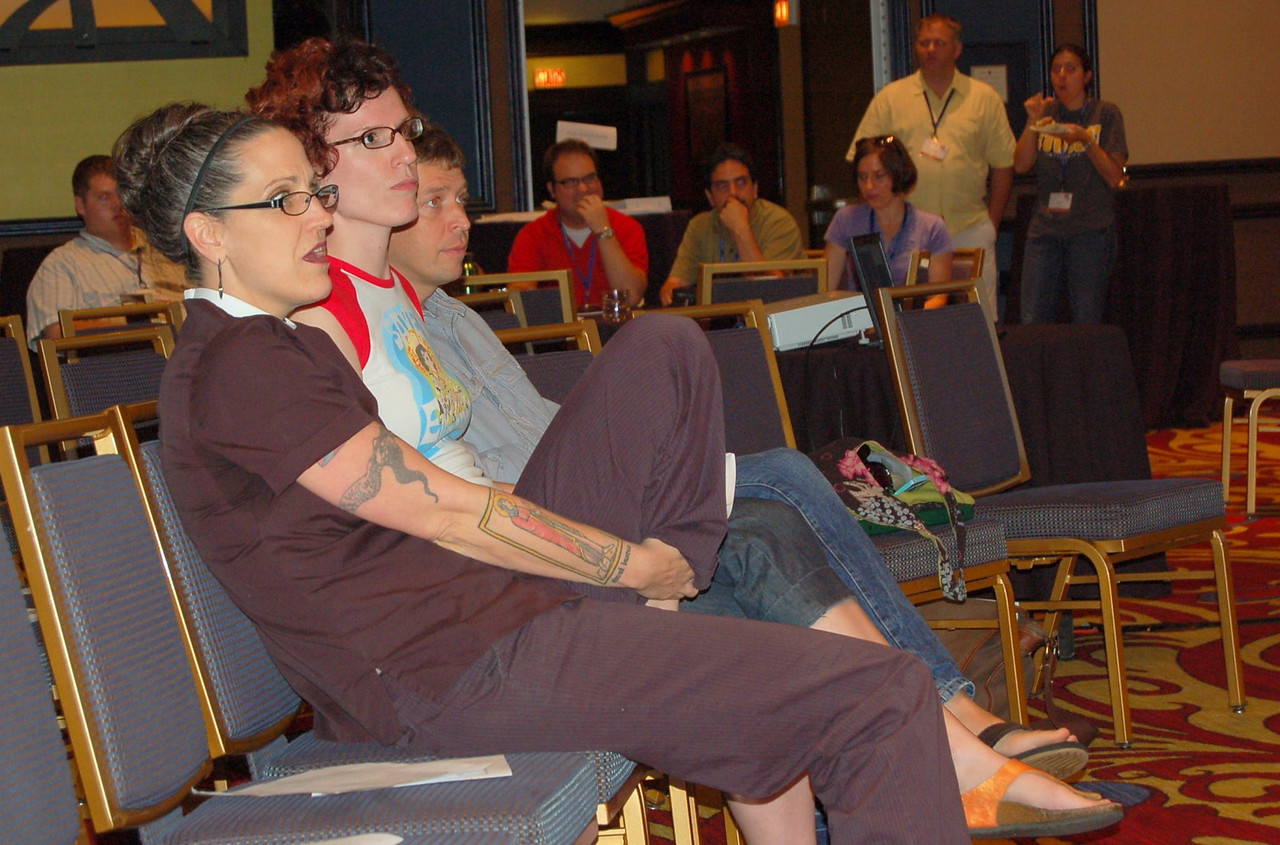 The Rev. Nadia Bolz-Weber and Follow Me attendees