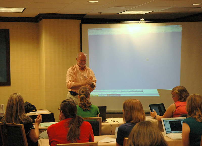 "Rob Moore, President and CEO, Lipman Hearne, presents the workshop ""Finding Your Message"""