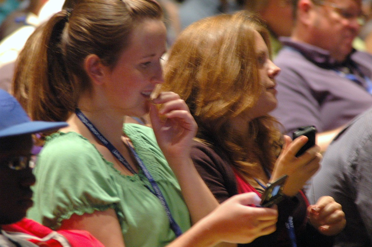 Participants during plenary session three