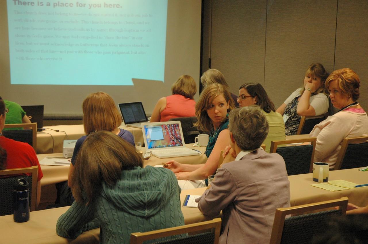 Participants during workshop
