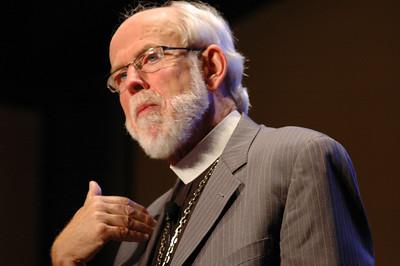 Presiding Bishop Mark S. Hanson answers a question