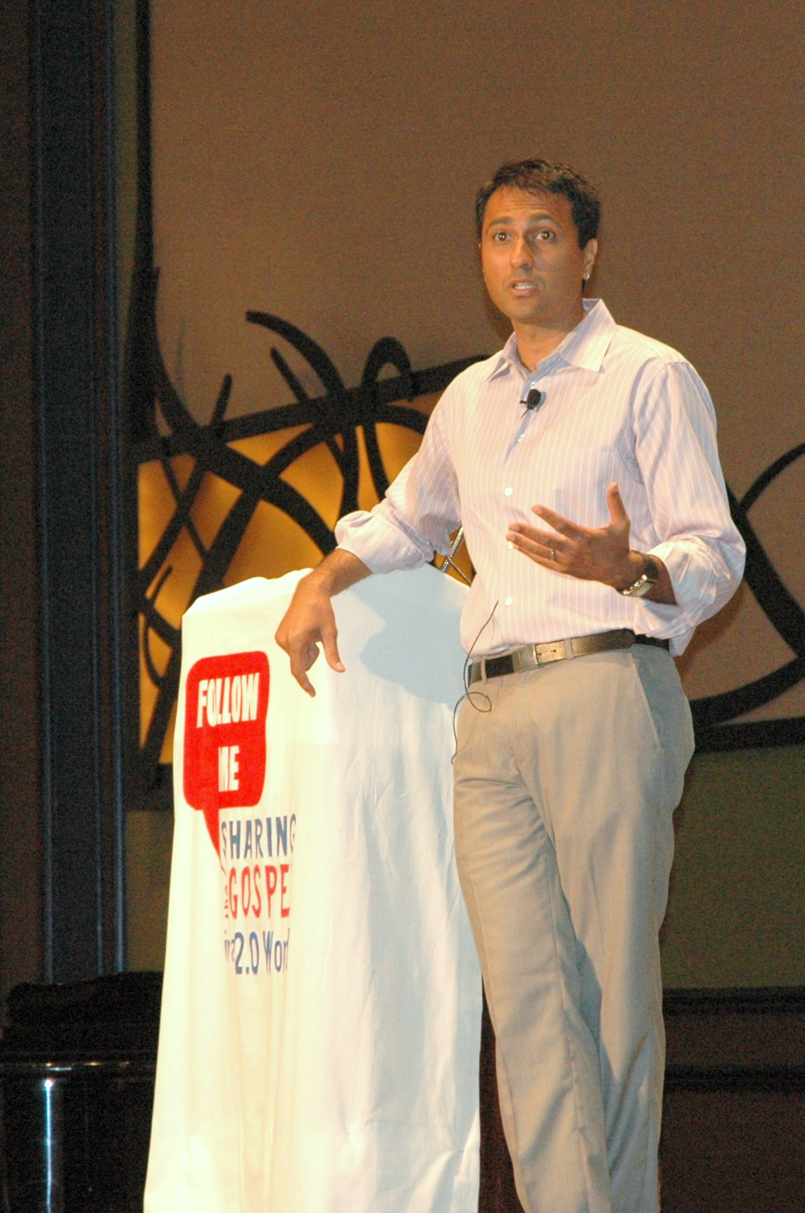 Eboo Patel of Interfaith Youth Core during plenary session two