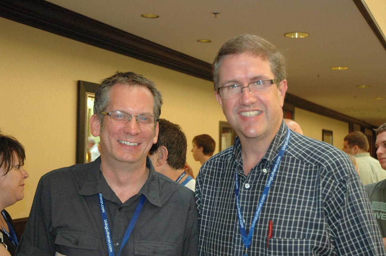 Kent Mueller and John Dellis during a break
