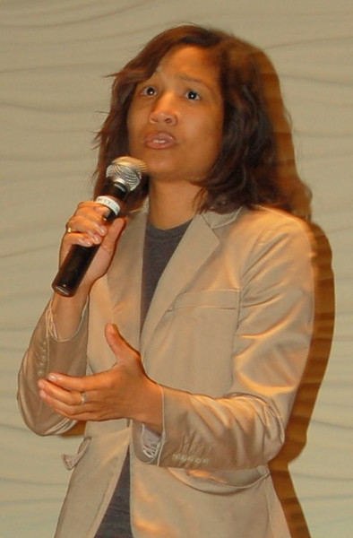 Yvonne Gilmore-Essig, spoken word artist at the Community Cafe