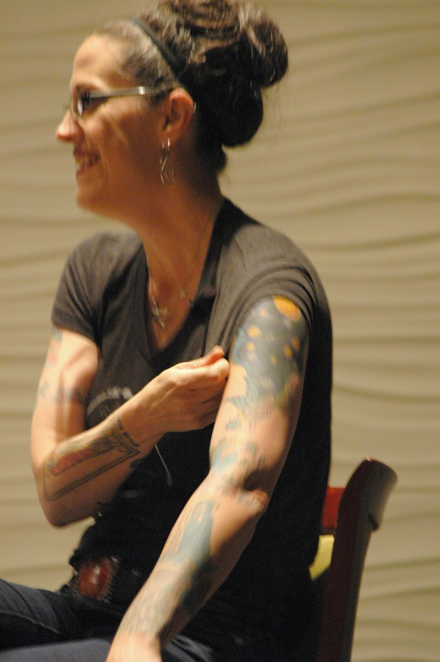 The Rev. Nadia Bolz-Weber explains her Lectionary tattoos during plenary session one