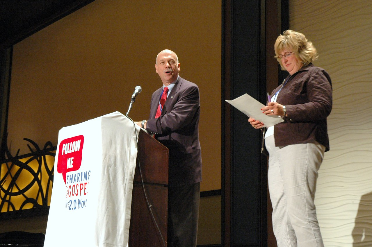 The Rev. Eric C. Shafer as Senior Vice-President of Philanthropy and Faith Community Relations, Odyssey Networks, and Sue Rothmeyer, Associate Executive Director for Youth and Young Adult Ministries, Vocation and Education