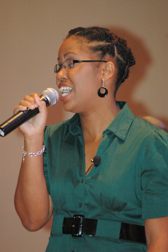 Rozella Poston during the question and answer period