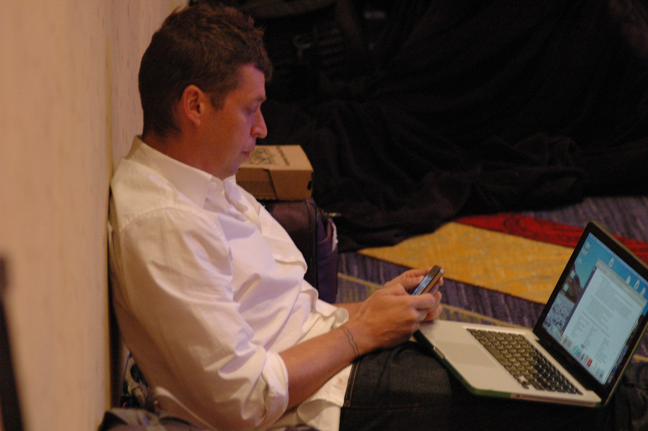 A participant during the question and answer period