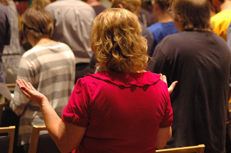 Participants during opening worship