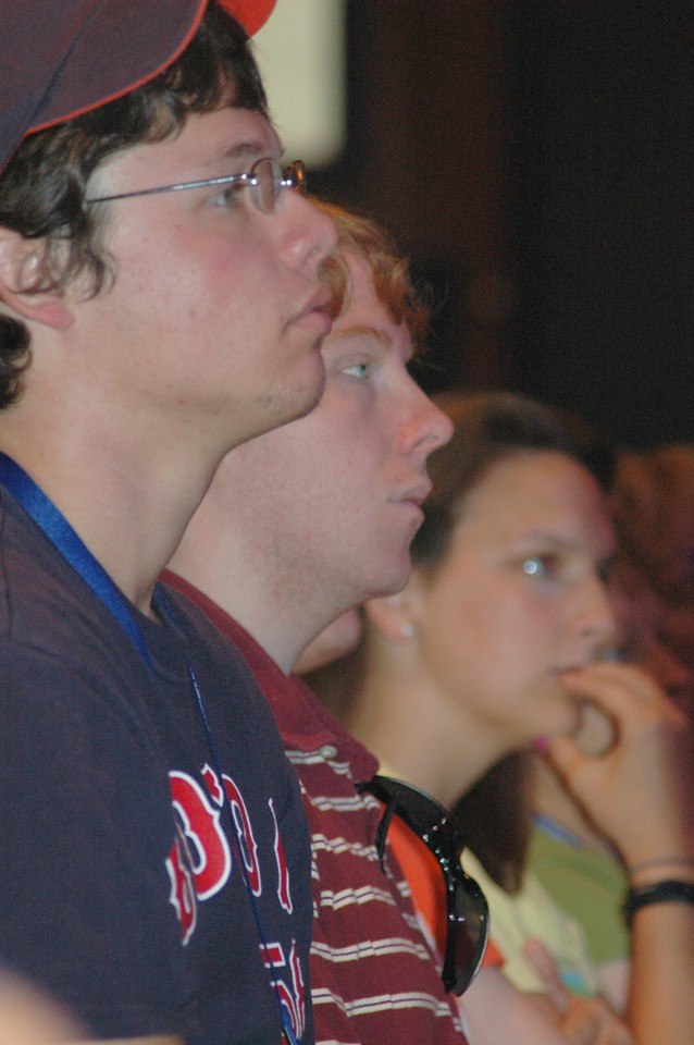Participants listening during the question and answer period