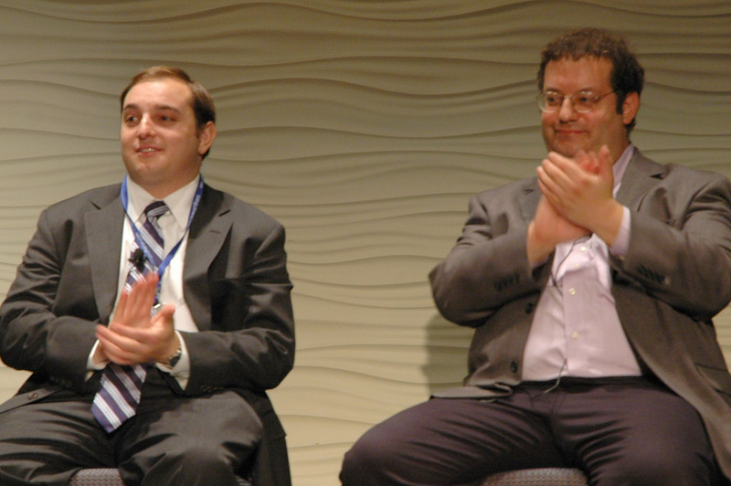 Andrew Bleeker and Michael Organ during plenary session three