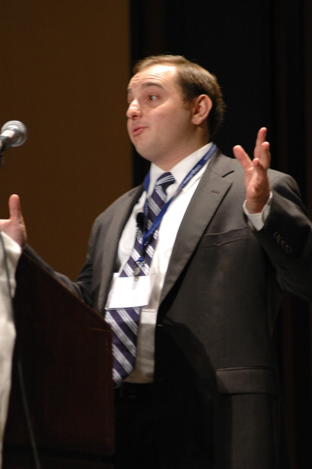 Andrew Bleeker during plenary session three