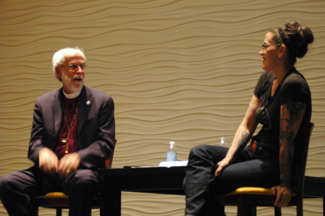 Presiding Bishop Mark S. Hanson and the Rev. Nadia Bolz-Weber
