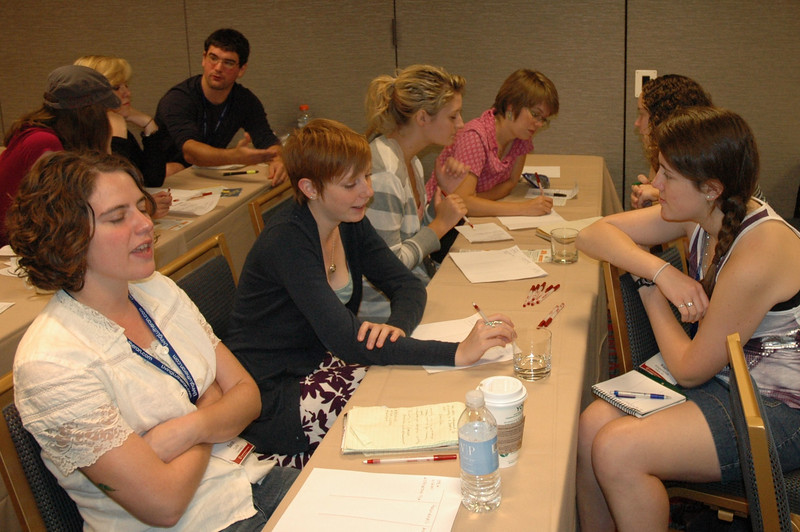 Participants during a Follow Me workshop