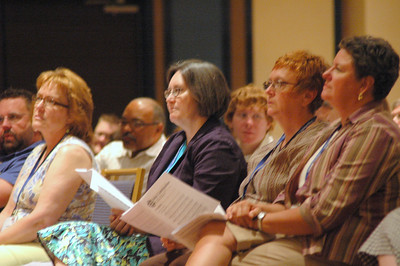 Participants at opening worship