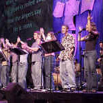 Music was an important part of 2000 ELCA Youth Gathering.  Mass gatherings at the Trans World Dome at America's Center featured a band and choir made up mostly of high school-and college-age young people.