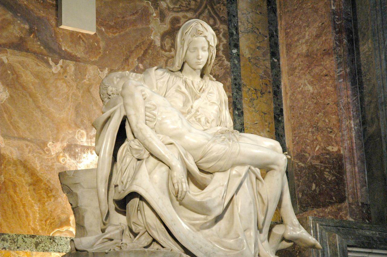 """Participants on the ELCA Ecumenical Journey got an up-close look Michelangelo's """"Pieta'"""" which is on display in a restricted area inside St. Peter's Basilica in Vatican City."""