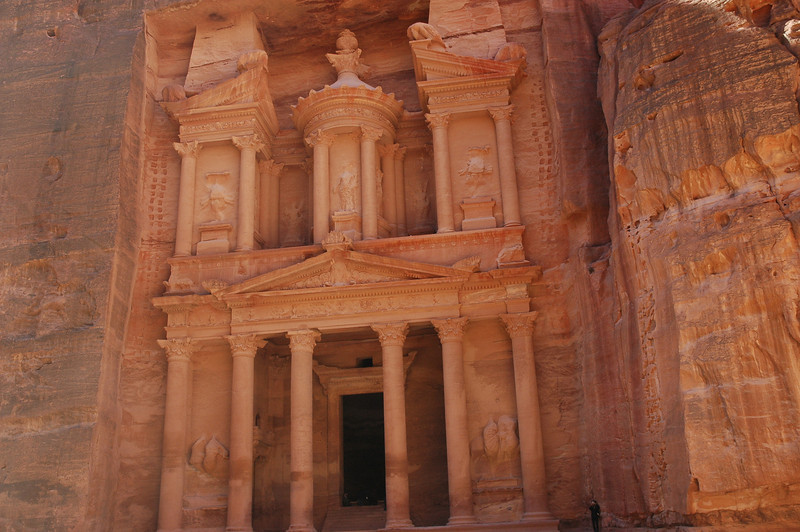 The ELCA visitors saw this famous tomb, carved out of solid rock, at the Petra site.
