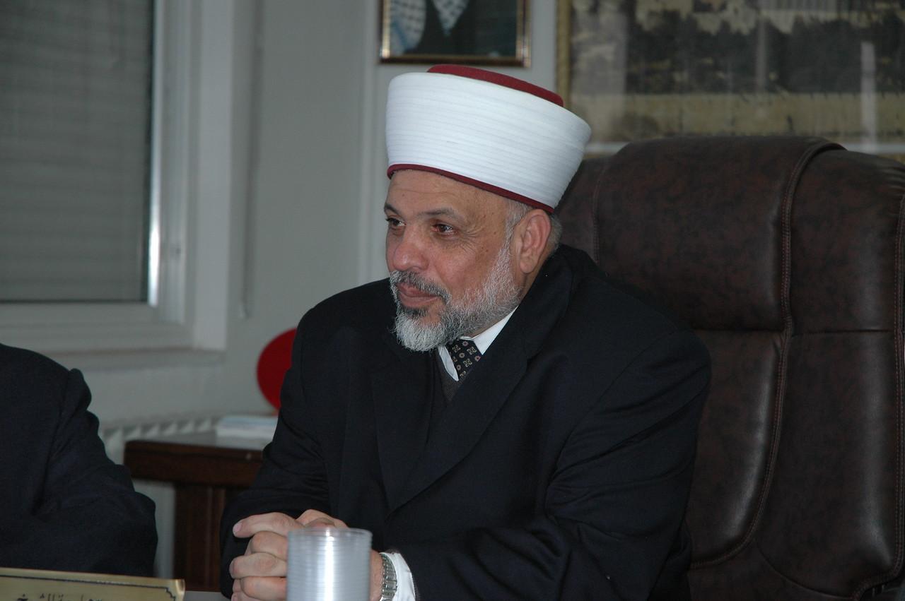 Sheikh Tayseer Rajab Al-Tamini, supreme judge of the Islamic Shari'a Courts, Palestine.