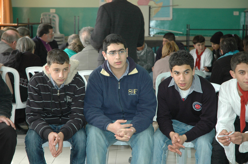 Majdi Habash, center, Evangelical Lutheran School of Hope, Ramallah, said his parents are concerned that if he leaves the West bank after his schooling, he may never return.
