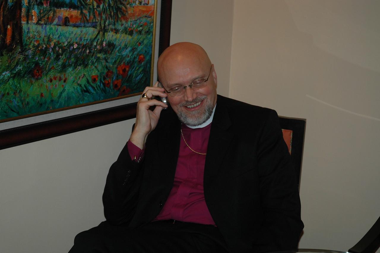 Bishop Wayne Miller, ELCA Metropolitan Chicago Synod, was interviewed for a program on Chicago Public Radio Jan. 9, in Bethlehem.