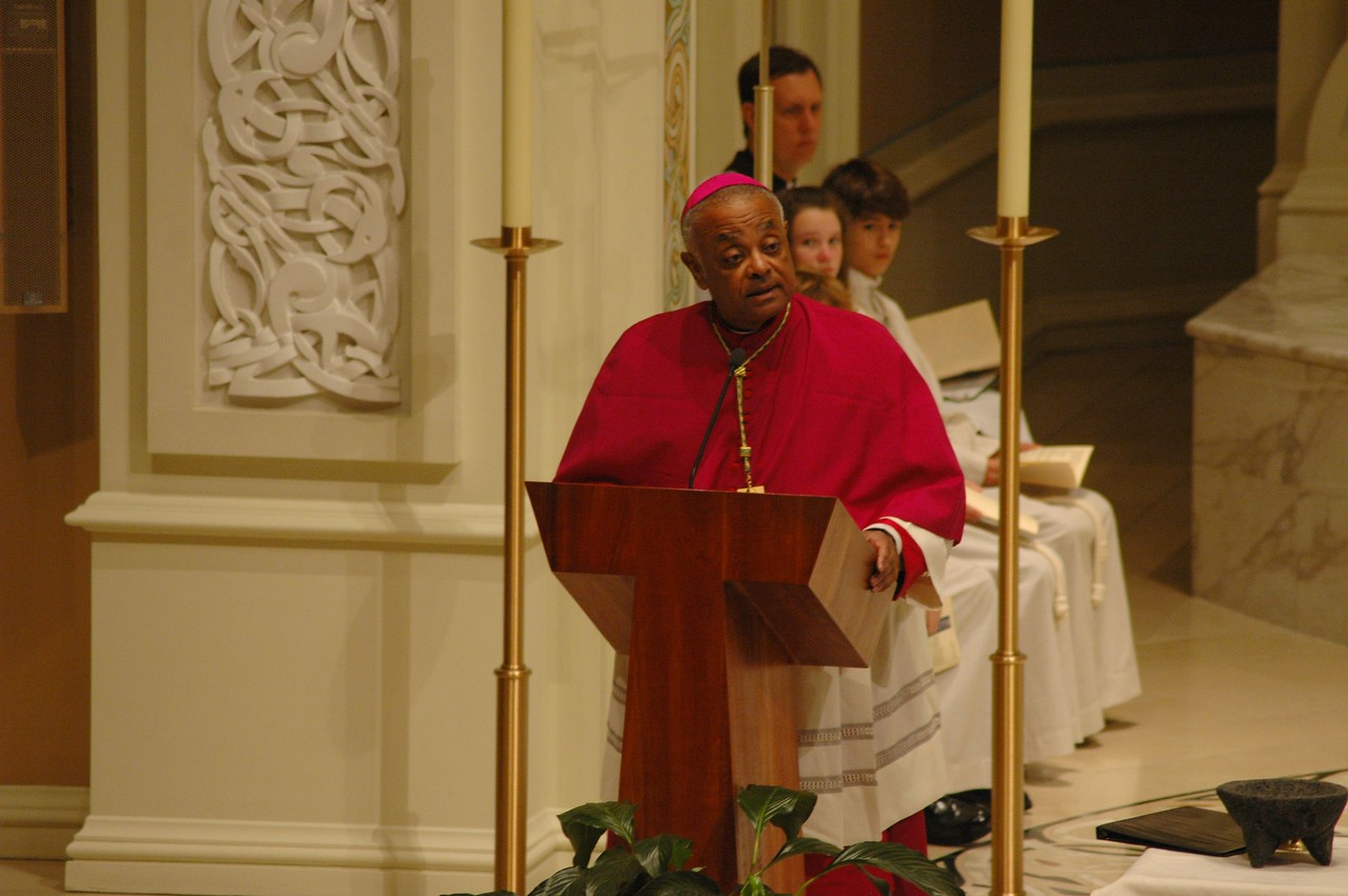 Archbishop Wilton D. Gregory, Archdiocese of Atlanta, delivers the homily during the Oct. 1 JDDJ celebration in Chicago.