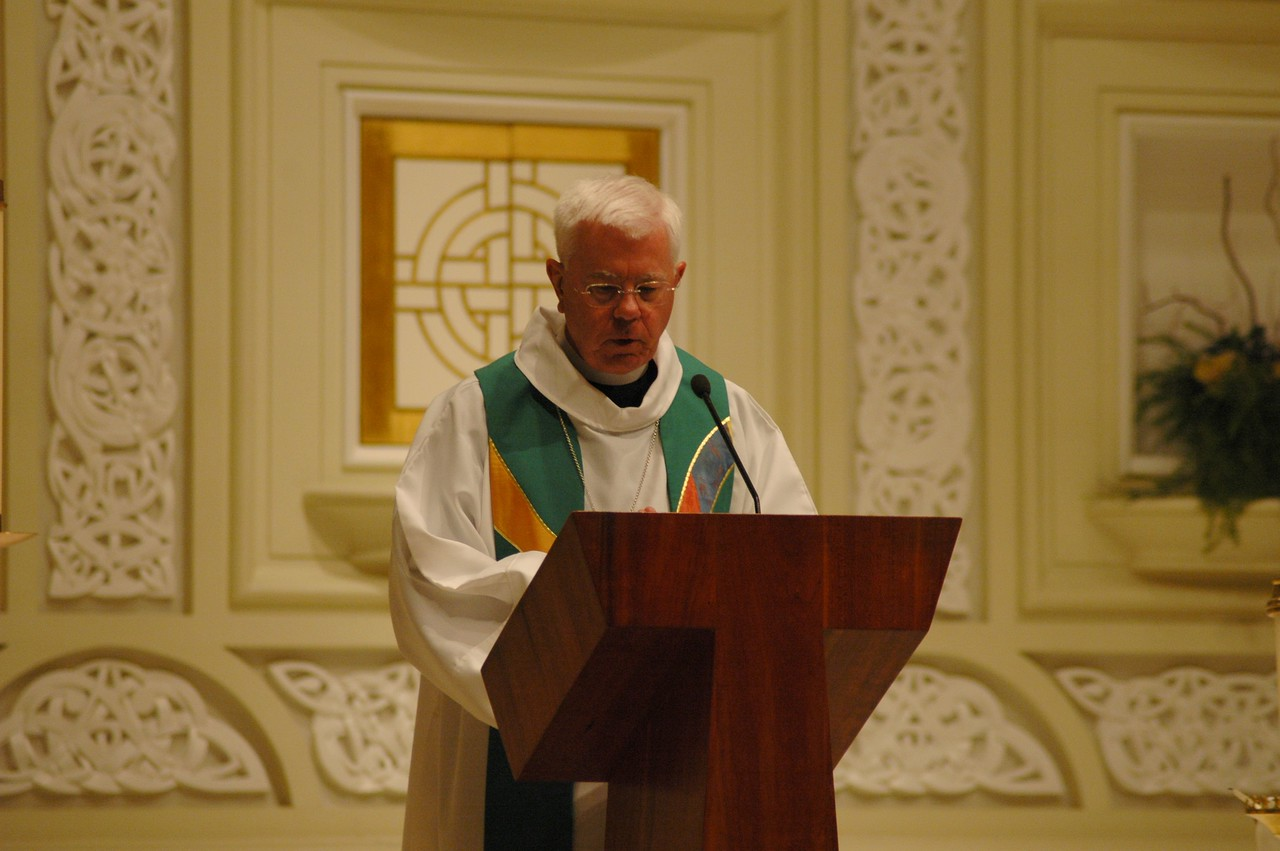 Bishop Allan Bjornberg, ELCA Rocky Mountain Synod, reads a prayers during the Oct. 1 JDDJ celebration in Chicago.
