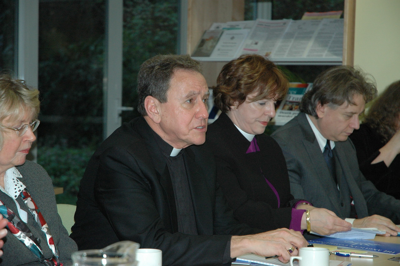 The Rev. Donald McCoid, executive director, ELCA Ecumenical and Inter-Religious Relations, comments during a Feb. 4 meeting of the ELCA delegation with the Anglican Consultative Council.