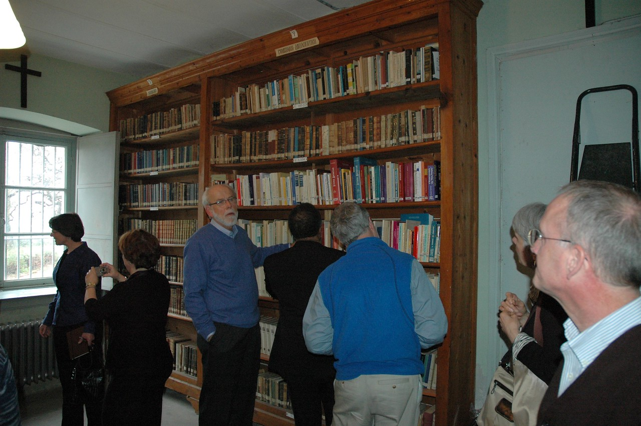 The ELCA delegation visits the library of the Theological School of Halki (Turkey) Feb. 7.  The library houses some 60,000 volumes and is used by researchers and journalists.
