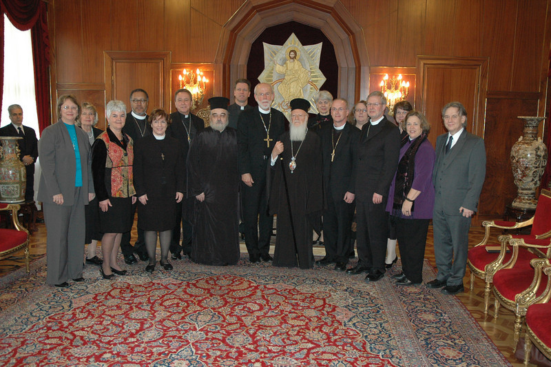 The ELCA delegation of clergy and lay leaders met with Ecumenical Patriarch Bartholomew I, world Orthodox leader, in Istanbul Feb.8.