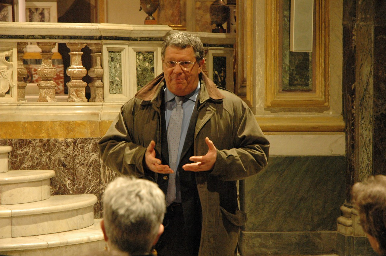 The ELCA delegation visited the Community of Sant'Egidio, Rome, a Catholic ecumenical community with an international mission of prayer and service to people living in poverty.  Claudio Mario Betti, a member of the community, explained its mission to the ELCA delegation.