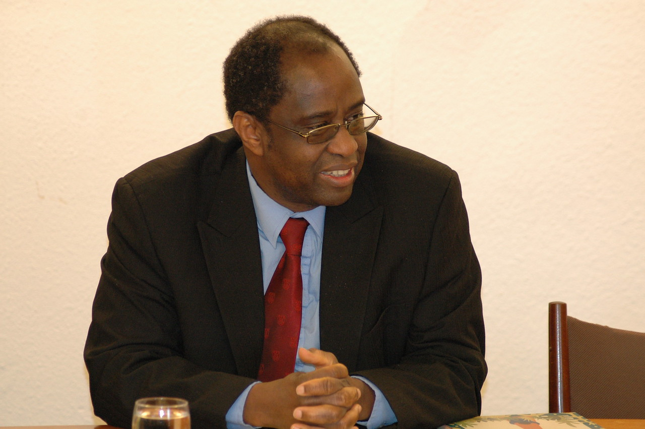 Dr. Setri Nyomi, general secretary, World Alliance of Reformed Churches, met with the ELCA delegation Feb. 15 in Geneva.
