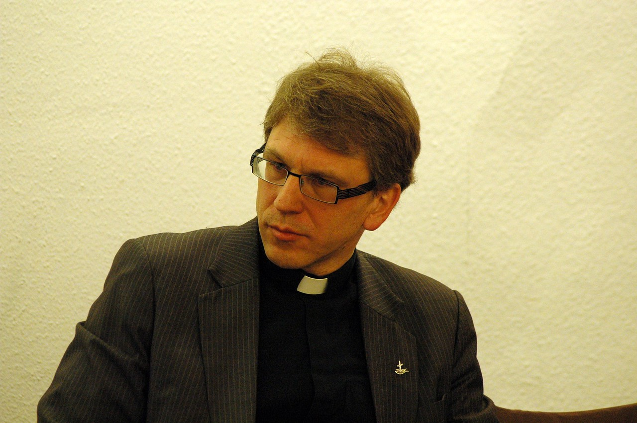 Dr. Olav Fykse Tveit, general secretary, World Council of Churches, met with the ELCA delegation Feb. 15 in Geneva.