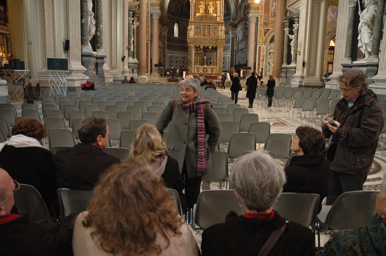 The ELCA delegation visited several Roman basilicas Feb. 11, and were led by a tour guide.