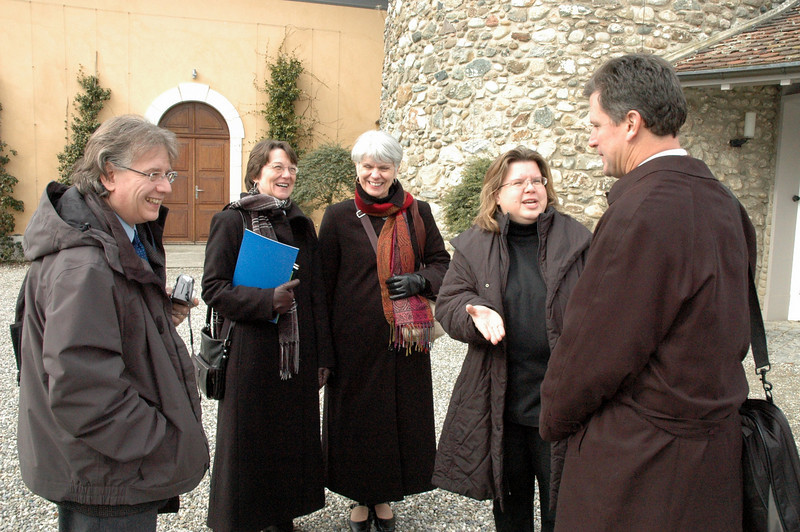 Members of the ELCA delegation toured the WCC Ecumenical Institute at Bossey (Switzerland) Feb. 16.