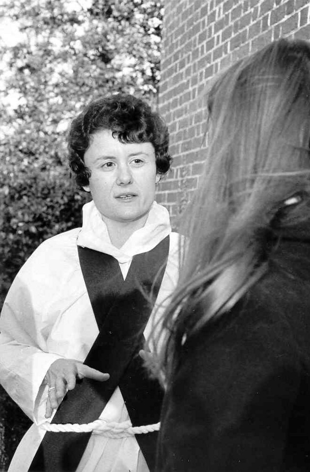The Rev. Elizabeth A. Platz began serving as campus pastor at the University of Maryland in November 1970.
