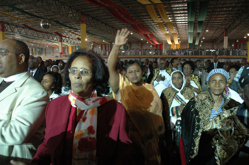 As many as 2,000 people filled Millenium Hall in Addis Ababa Jan. 18 for a celebratory worship service for the EECMY's 50th anniversary.