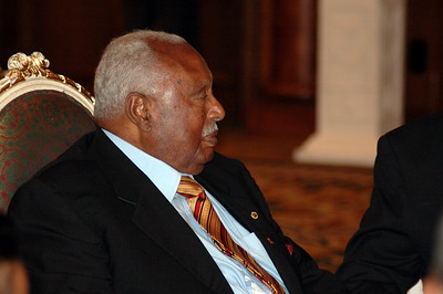 Ethiopian President Girma W. Girogis spoke and presented awards at a banquet Jan. 18 for EECMY's 50th anniversary.