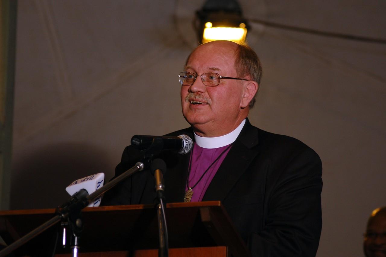 Bishop James Arends, ELCA La Crosse Area Synod, offered a prayer at the EECMY celebration Jan. 17.