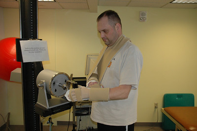 Chris Pollock undergoes therapy at least six hours per day at the University of Pittsburgh Medical Center.