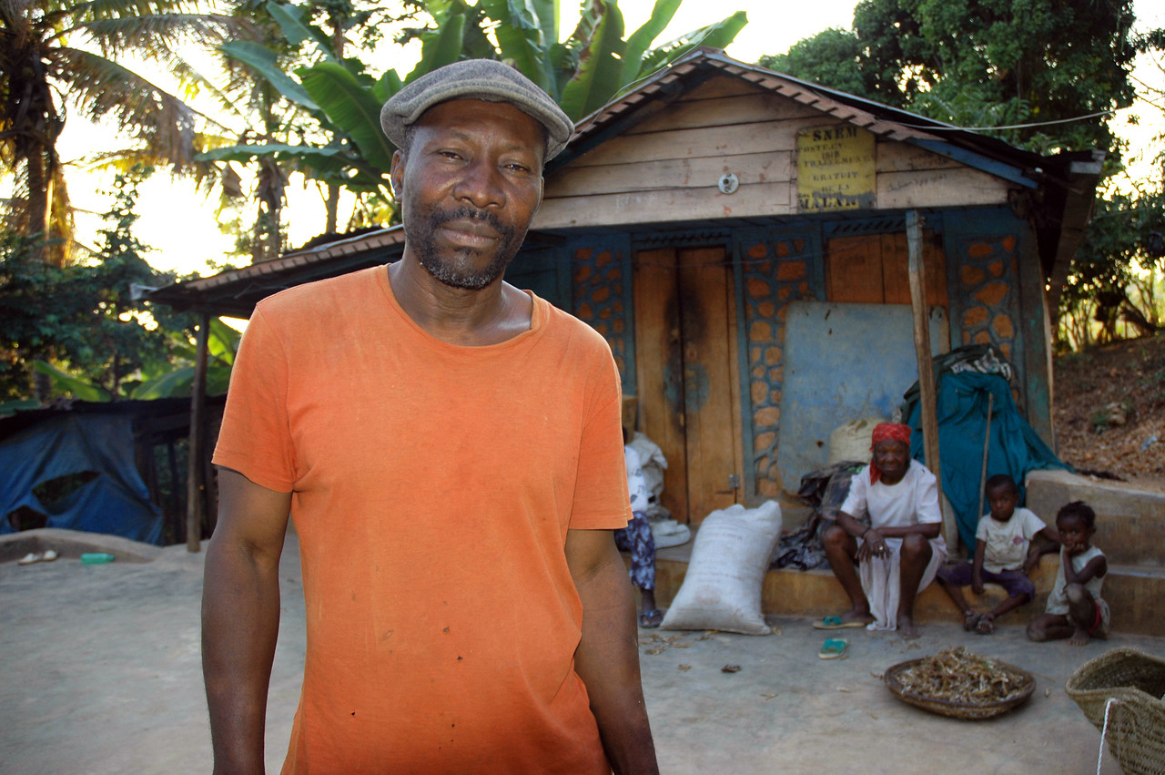 Jesus Joseph and Esta own a coffee plantation near Eglise Lutherienne in Thiotte, Haiti.