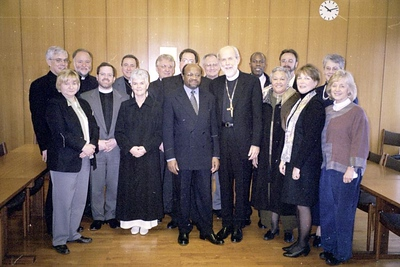 The ELCA delegation and General Secretary Noko met at the LWF offices in Geneva.