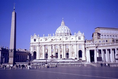 The ELCA delegation met with Vatican officials in Vatican City and toured St. Peter's Basilica there.