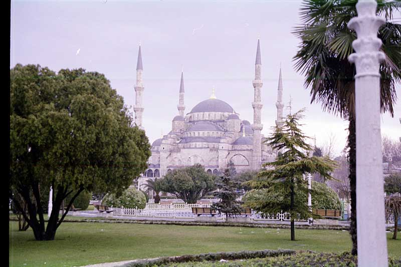About 99 percent of the population in Turkey is Muslim. The 400-year-old Blue Mosque in Istanbul is the only mosque in the world with as many as six minarets.